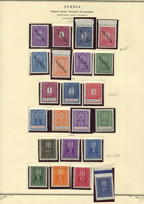 Serbia Occupation 1941 - 1942 Postage Dues MH / MNH Sets 2NJ1 - 2NJ22