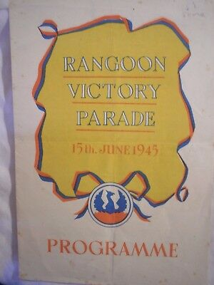 British Army Burma Campaign Rangoon Parade 1945 Far East RAF Royal Navy History