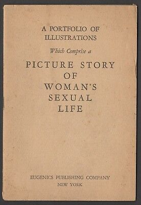LQQK vintage 1934 original booklet PICTURE STORY OF WOMAN'S SEXUAL LIFE