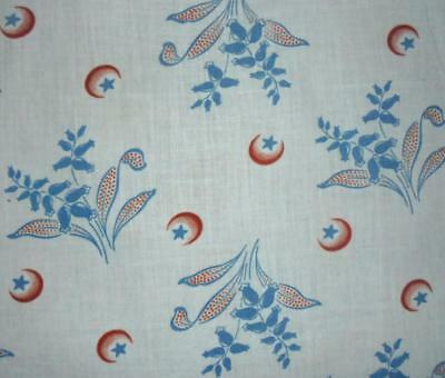 BEAUTIFUL UNUSED ANTIQUE FRENCH PROVENCAL COTTON c1910, PROJECTS REF