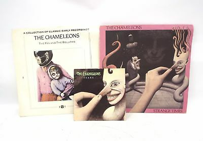 """The Chameleons – The Fan And The Bellows, Strange Times LPs & Tears 7"""" - SA1"""
