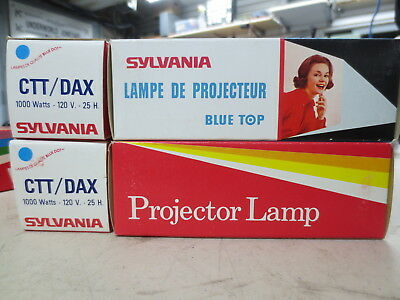 Lot of 3 x Sylvania Projector Lamps CTT-DAX 1000 W / New Old Stock unused in box