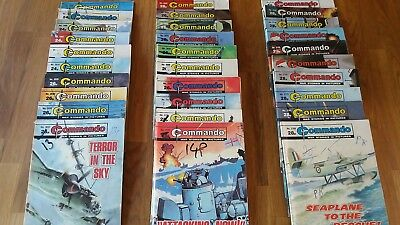 30 Commando Comics in excellent condition  issues 1948-2184 RAF Luftwaffe