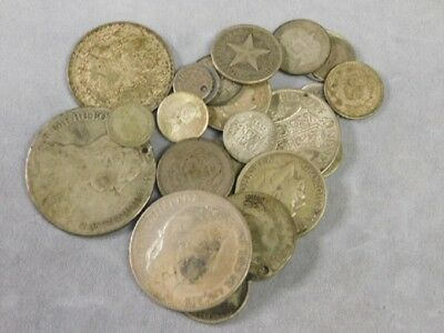 Large Lot Foreign Silver Coins