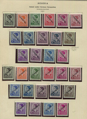Serbia German Occupation Sc #2N1 - 2N46 MH / MNH & MNH Sheet of 24