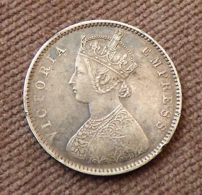 INDIA 1899 - Silver HALF RUPEE - Queen VICTORIA - GVF Good Very Fine Condition