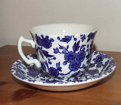 Burleigh Arden Blue/White Chintz Tea cup And Saucer.