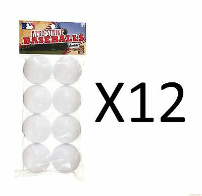 Franklin Sports Practice Balls Aero-Strike Solid Plastic Baseball 8-Pc (12-Pack)