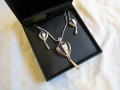 Scottish Ortak Silver Pendant And Earrings Set