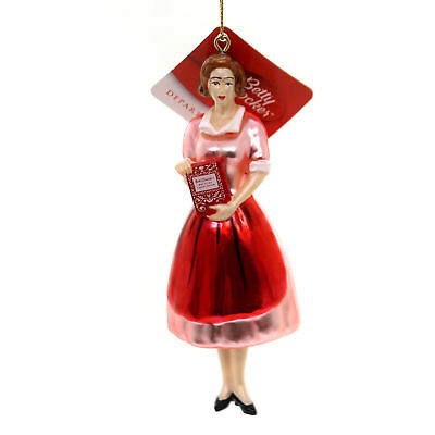 Holiday Ornaments BETTY CROCKER WITH BOOK Glass Department 56 4058607