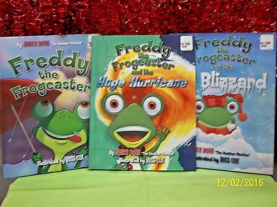 3 Freddy the Frogcaster Books by Janice Dean lot BRAND NEW