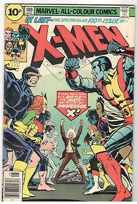 X-Men No.100;marvel/1976; Old Vs New X-Men/part Origin Of Phoenix;key