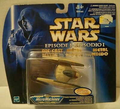 Star Wars EPISODE I Micro Machines DIECAST TRADE FEDERATION DROID FIGHTER Hasbro