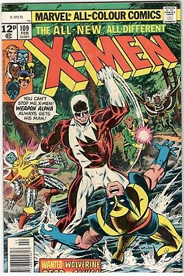 X-Men No.109; Marvel/ 1977; 1St Appearance Of Weapon Alpha..key Issue