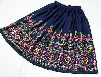 Vintage Kuchi Collectible Rabari Banjara Tribal Ethnic Belly Dance Mirror Skirt