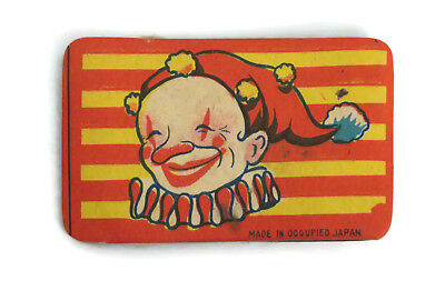 Vintage Occupied Japan Cracker Jack clown paper bellows prize toy premium