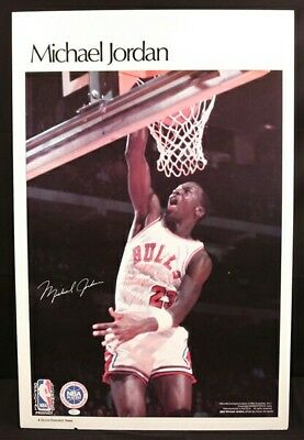 Michael Jordan Rare Rookie Era Signed Sports Illustrated Poster Full JSA LOA
