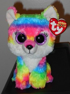 """Ty Beanie Boos ~ RIVER the 6"""" Wolf ~ GWL Exclusive ~ NEW with MINT TAGS ~IN HAND"""