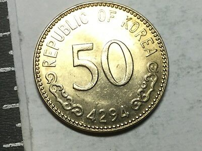 SOUTH KOREA 1961 50 Hwan coin uncirculated