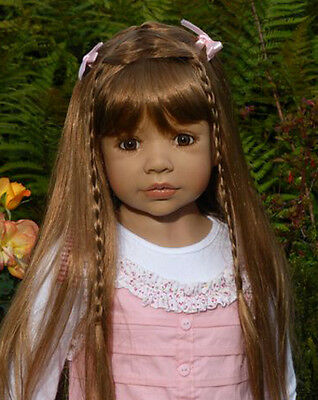 """Masterpiece Dolls Candy Brown  Wig Fits 20 """" Head"""