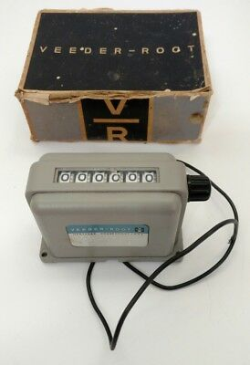 Vintage VEEDER-ROOT 6-Digit COUNTER #120506-010 115VAC 60CPS 8-WATTS with Box