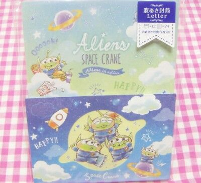 KAMIO JAPAN / Disney Toy Story Aliens Letter Set / Made in Japan Stationery