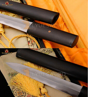Hand Forged Folded Steel Damascus Clay Tempered Sharp Blade Chinese Sword JIAN