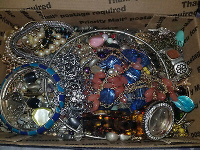 Fashion Vintage Junk Unsearched Untested Estate Jewelry lot #52