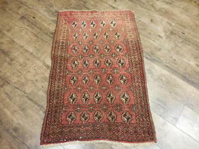 Ca1930s VE DY ANTIQUE PERSIAN QASHQAI TURKEMAN SERAPI 2.2x3.4 ESTATE SALE RUG