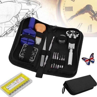 Watch Repair Tool Kit Watchmaker Back Case Opener Battery Cover Remover UK Stock