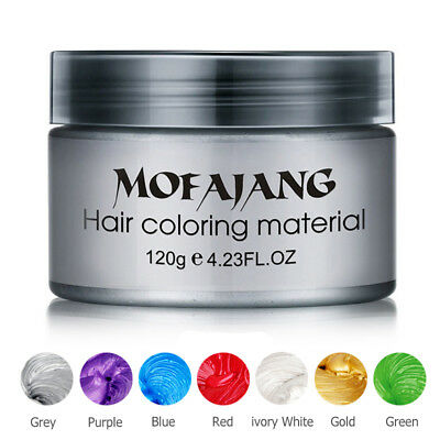 Unisex DIY Hair Color Wax Mud Dye Cream Temporary Modeling - 7 Colors To Choose