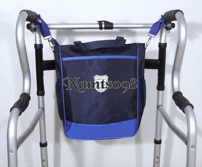 Walker Wheelchair Storage Pocket Bag Tote Pouch Carrier Holder/Scooter/HAND FREE