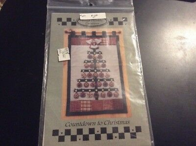 Vintage Timid Thimble Creations Pattern For Countdown To Christmas Advent Tree