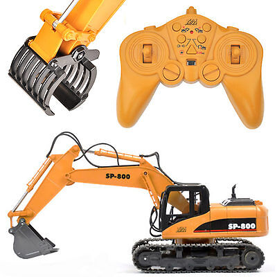 T2M RC Excavator 1-14 Large SP-800 RTR with Metal Shovel and Wooden Tongs T800+