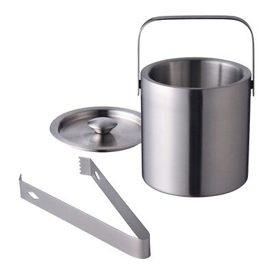 Wine Bottle Cooler Champagne Party 6'' Stainless Steel Ice Bucket With Tongs.