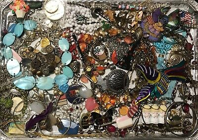 Antique & Vintage Estate Junk Drawer Tribal Ethnic Bedouin Jewelry Craft Lot