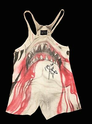 Wwe Rob Van Dam Ring Worn Hand Signed Autographed Singlet With Coa From Booker T