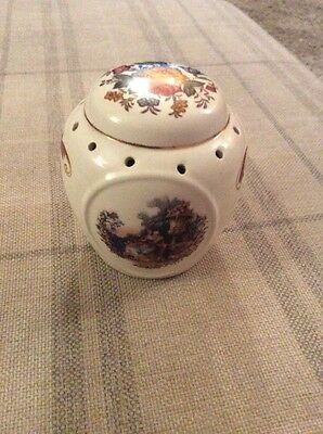 Lovely Unbranded China Pomander With Victorian? Scenes And Flowers