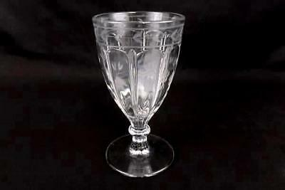 "Crystal Etched Flower Pedestal 7"" Glass Wine Water Goblet Replacement Piece"