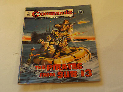 Commando War Comic Number 596,1971 Issue,good For Age,46 Years Old,very Rare.