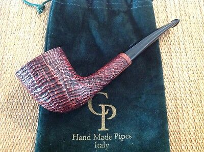"Unsmoked Paolo Corso ""black Bass"" Pipe, Great Blasted Briar, Must See!!!"