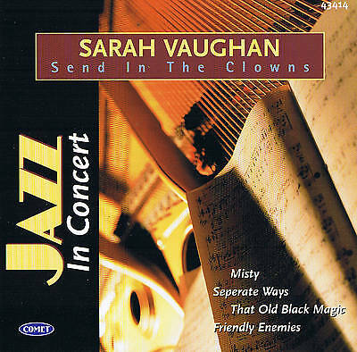 """Sarah Vaughan """" SEND IN THE CLOWNS """" CD 78rpm Time New Comet 2004"""