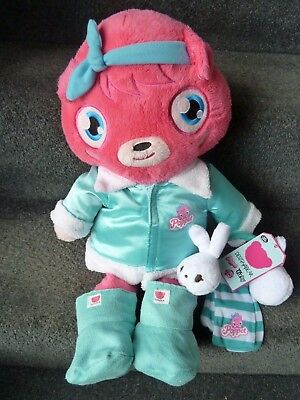 Chad Valley pink Design a Bear teddy bear soft plush toy Moshi Monster Poppet