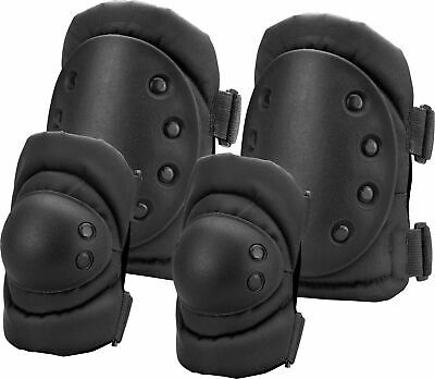 Loaded Gear CX-400 Elbow and Knee Pad Set, Elbow 5in. x 2in. x 6.5in., : BI12250