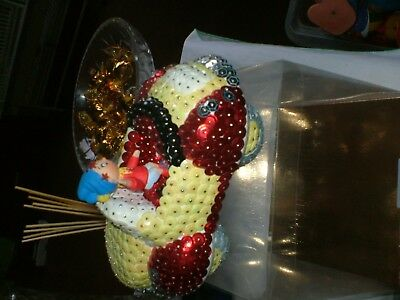 Noddy Car Collectors Item As Its Made With Red And Yellow Sequins And A Noddy.