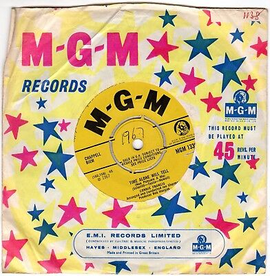 Connie Francis....time Alone Will Tell / Born Free...mgm..uk..45