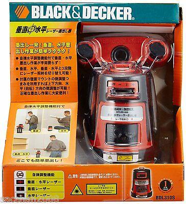 Black & Decker Vertical and horizontal laser BDL310S Free Shipping New!
