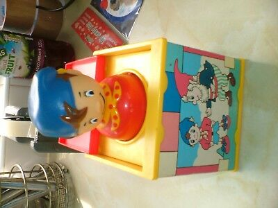 """NODDY POP UP JACK IN THE BOX MADE BY """"KIDDY CREW"""" MEASURES 4ins SQUARE."""
