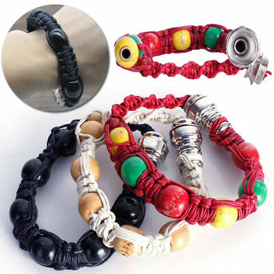 Portable Metal Bracelet Smoke Smoking Tobacco Pipe Jamaica Rasta 3 Colors
