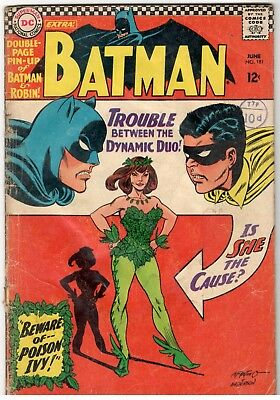 Batman No.181-Dc/1966;1St Poison Ivy-Pin Up Missing ;good To .vg-